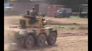 Various Ferret and Saladin fighting vehicles