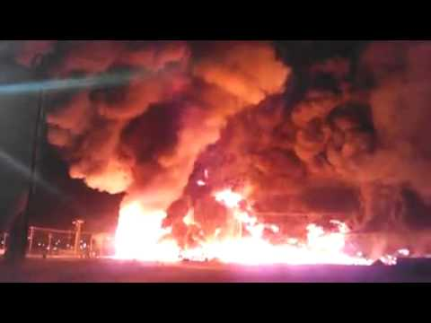 Massive blaze at ND oilfield supply company
