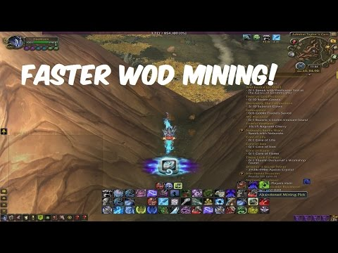 [WoW WoD] How To Get Faster Mining: Peon's Mining Pick