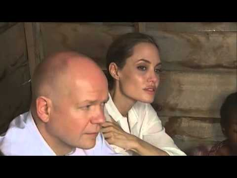 Angelina Jolie and William Hague visit Africa for anti-rape campaign