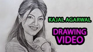Actress Kajal Agarwal - Perfect Pencil Drawing | Portrait Drawing | Tollywood