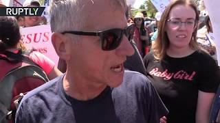 'Jesus! Jesus! Jesus!': 'Straight Pride' meet counter-protesters at California rally