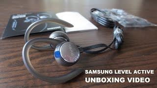 UNBOXING Samsung Level Active Wireless headphones