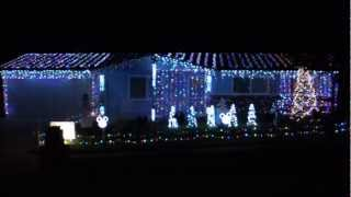 "2012 Simi House ""Jingle Bell Party Rock"" Christmas light show"