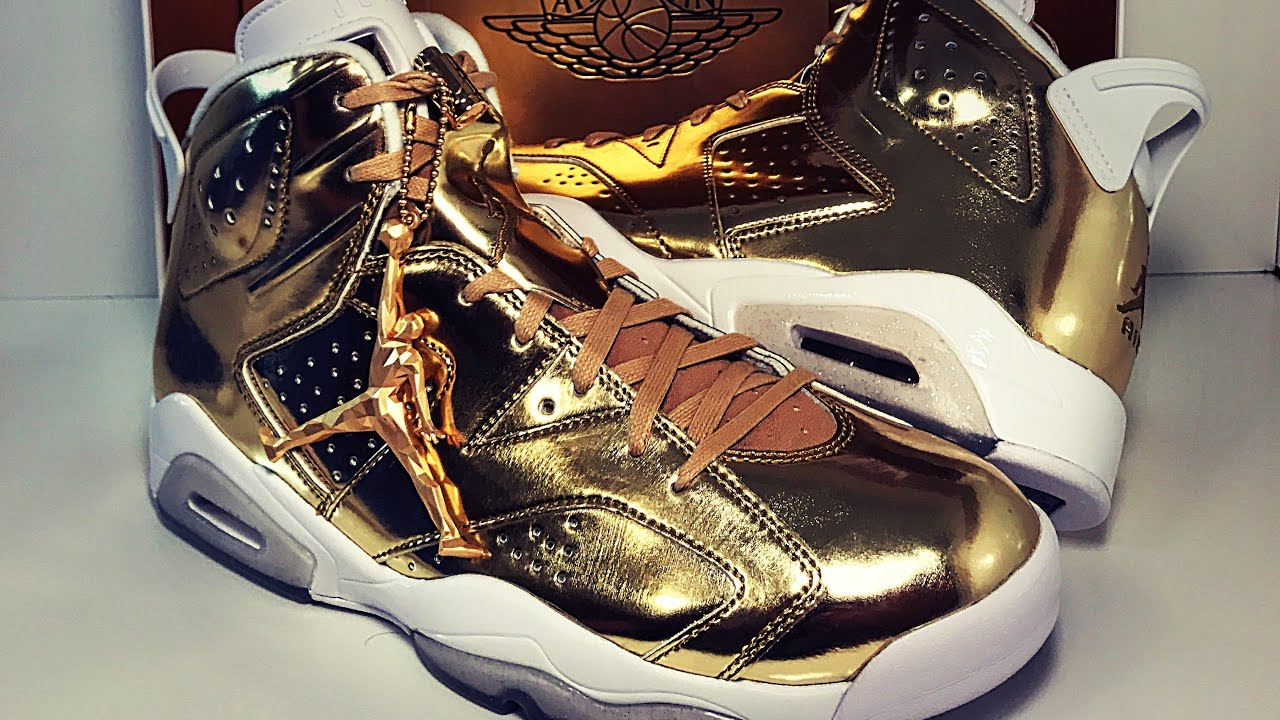 buy online 8f659 229b5 Jordan Retro 6 'Pinnacle' Gold Review and Unboxing Real Vs Fake Review
