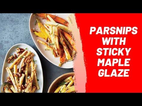 Parsnips with Sticky Maple Glaze