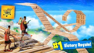GIANT SHOPPING CART *SKYCOASTER* in Fortnite Battle Royale