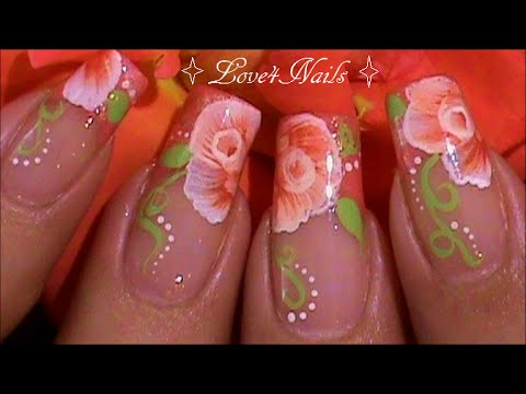Uñas Decoradas Plumas De Arcoiris Paso A Paso Tutorial Youtube