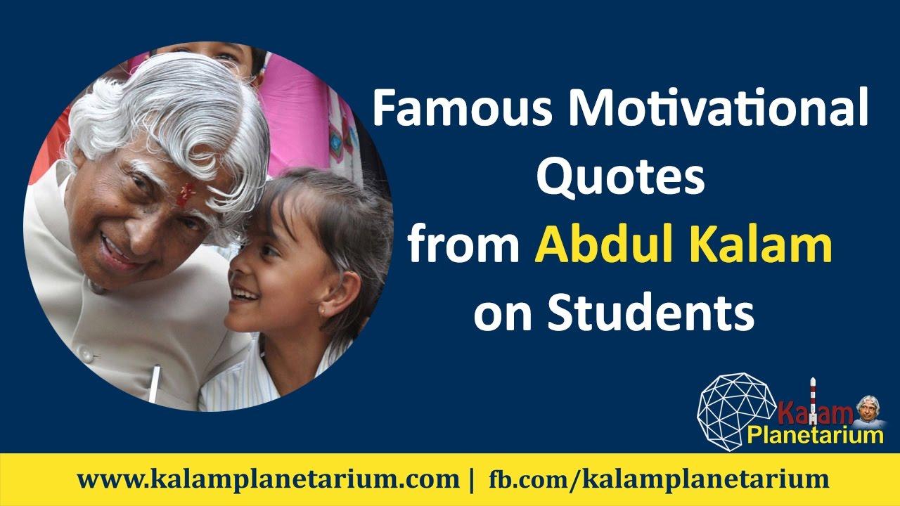 Dr Apj Abdul Kalam Famous Quotes For Students Kalam Planetarium