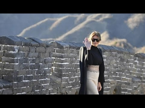 Melania at Great Wall: Amazing to experience one of the world's greatest wonders