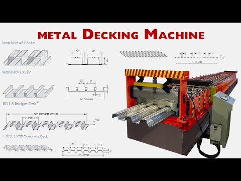 "【Floor deck design guide】:   Steel metal Decking Machine | Metal decking Machine "" LOTOS 2021"""