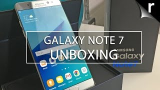 Samsung Galaxy Note 7 unboxing and hands-on review
