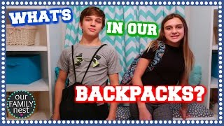 WHAT'S IN OUR BACKPACKS? SCHOOL IS HALF OVER!