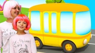 Пісенька про автобус. Іграшки для дітей.
