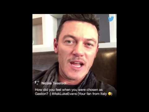 Luke Evans answers fan questions during a live Twitter Q&A(Feb.14,2017)