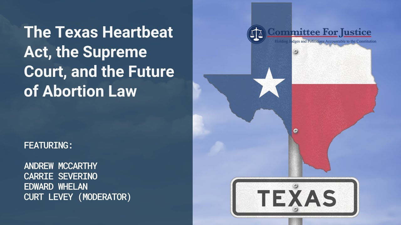 Event Video: The Texas Heartbeat Act, the Supreme Court, and the Future of Abortion Law
