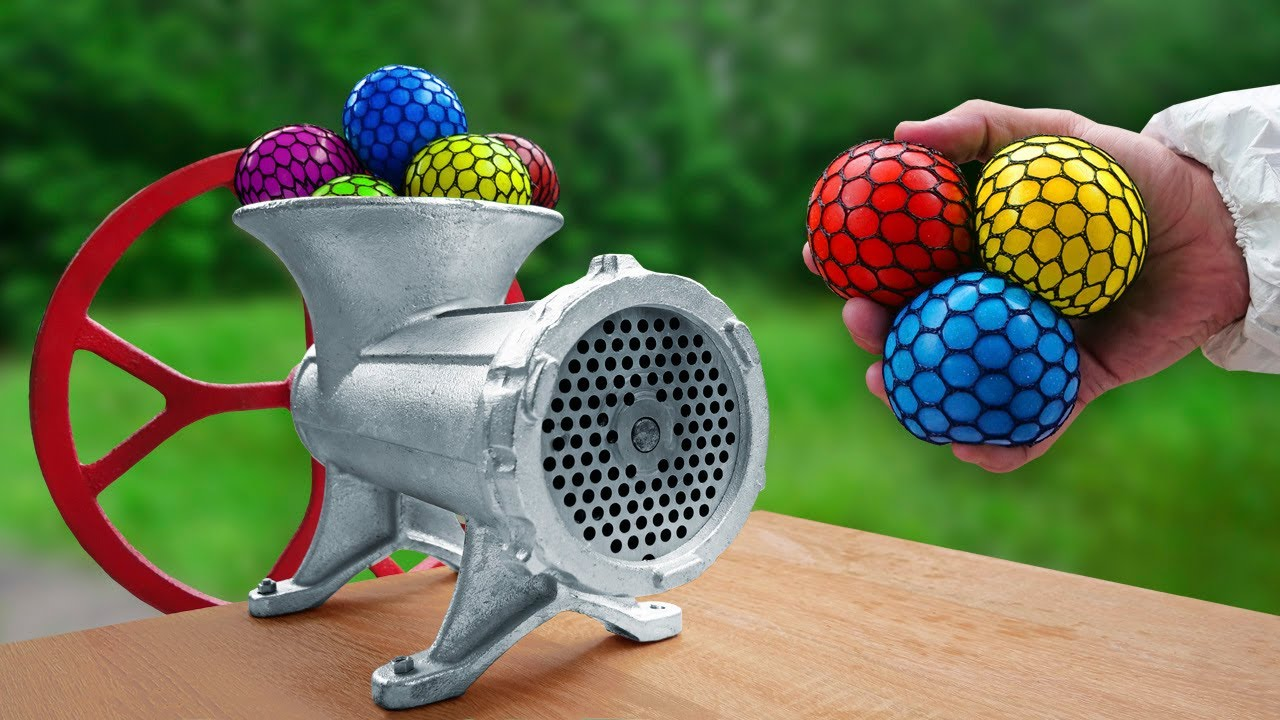 EXPERIMENT: Meat Grinder VS Anti Stress Squishy Ball