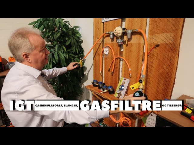 IGT   regulatorer, slanger, vægt og alt til gas