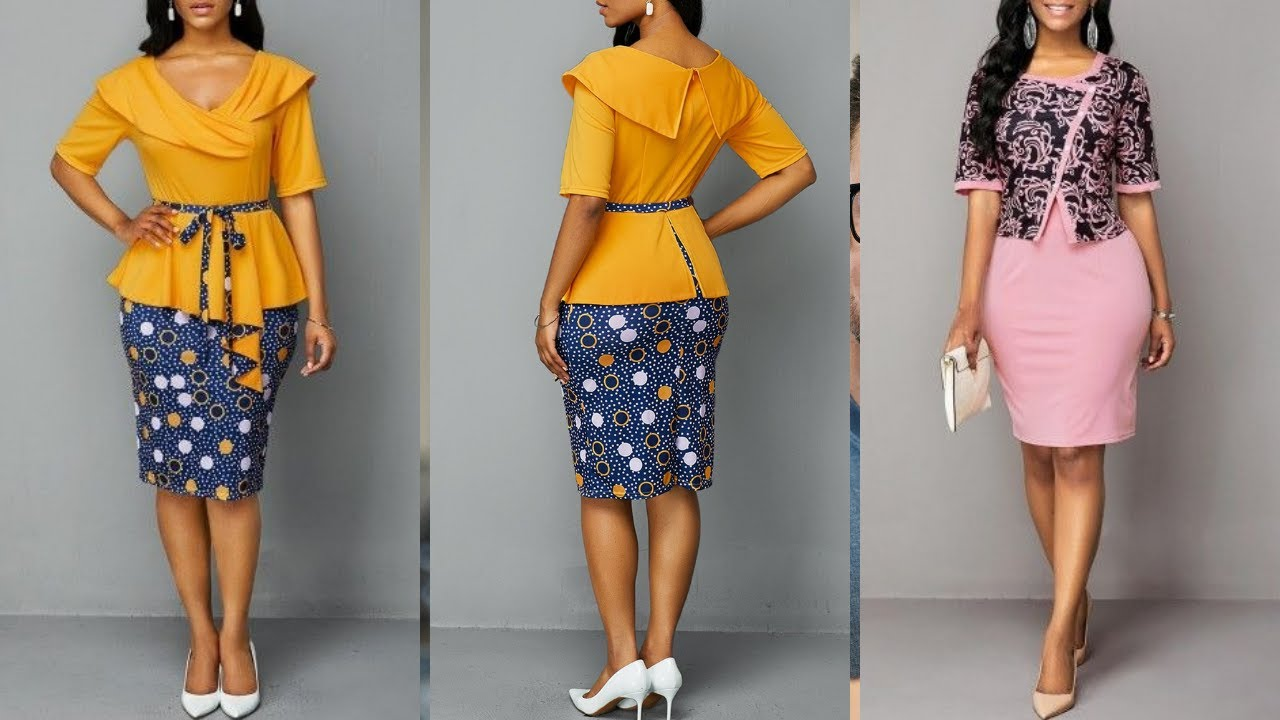 WORK OUTFITS & WOMEN CASUAL DRESSES | Amazing African Prints & Wears