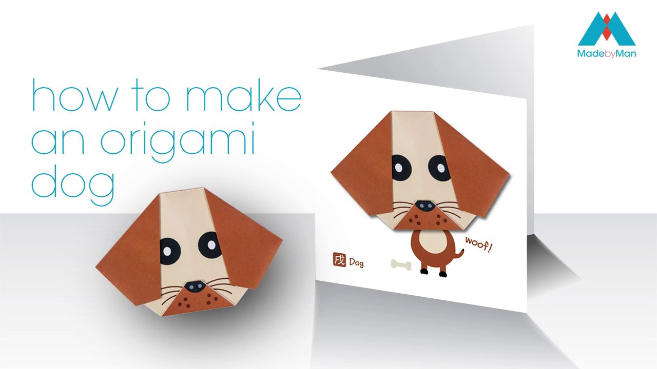 DIY How to Make An Easy Paper DOG. Origami Tutorial for Kids and ... | 720x1280