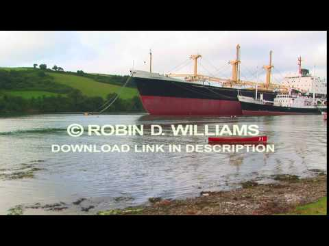 Ship at Tolverne on the River Fal Cornwall, UK