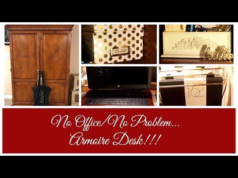 No Office/No Problem   Armoire Desk!!!