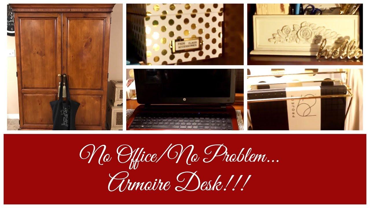 No Officeno Problem Armoire Desk!!!  Youtube