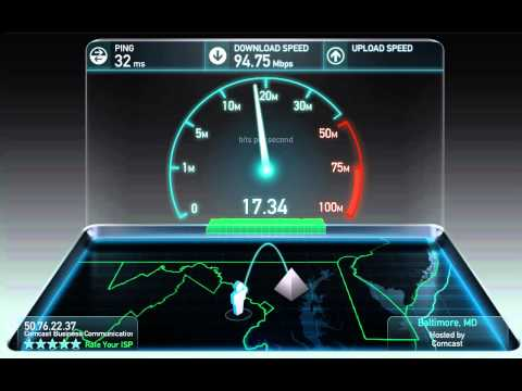 Comcast Business Speed Test (100/20Mbps)