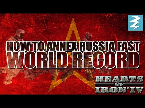How To Conquer Russia Fast WORLD RECORD Tutorial - Hearts of Iron IV HOI4 Paradox Interactive