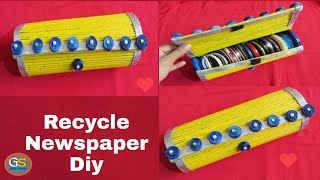 Newspaper Craft | How To Make Bangle Box At Home | Diy Crafts