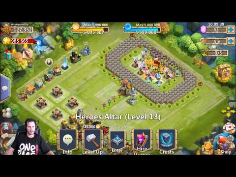 20000 Free 2 Play Gems For Heroes COMMON IGG! Castle Clash