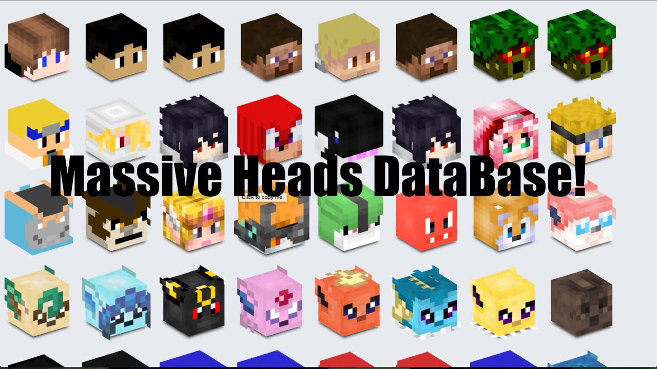 Decoration Minecraft Heads List