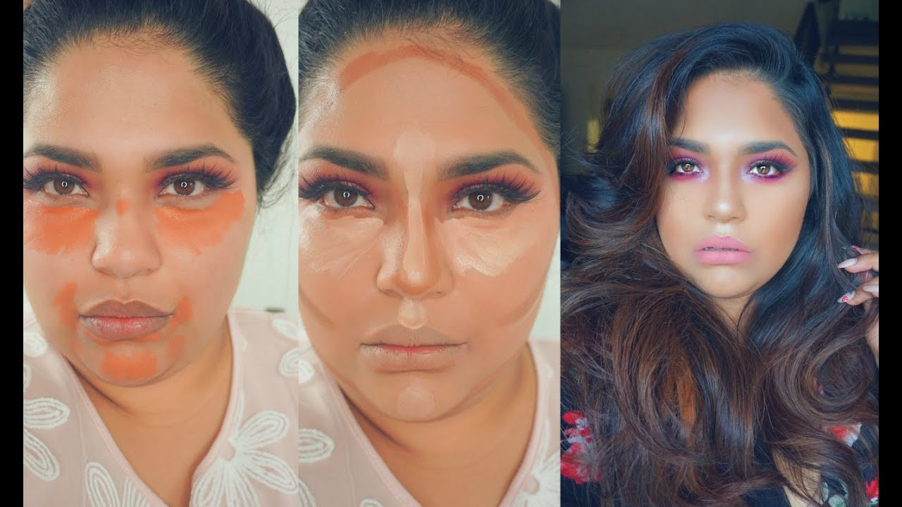 HOW TO USE ORANGE CONCEALER AND CONTOUR| MAKEUP TUTORIAL ...