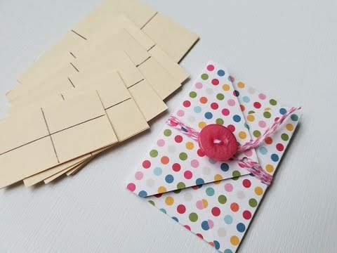 Mini Envelopes Without Punch Board: Rectangles