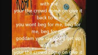 korn- beg for me- lyrics