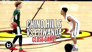 Chino Hills OVERCOME Overrated Chants & Win a CLOSE ONE vs Etiwanda With No LiAngelo Ball!