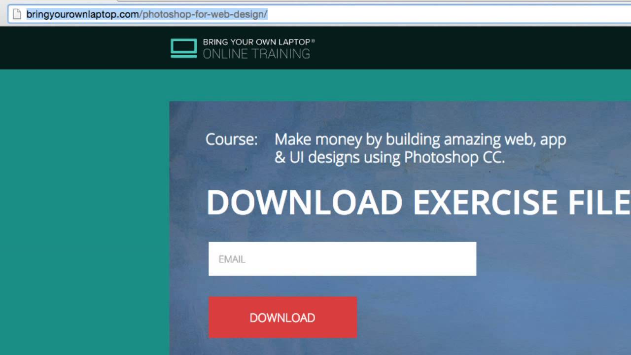 Design a Website in Photoshop CC  2015  1.5/48 - Download Exercise Files