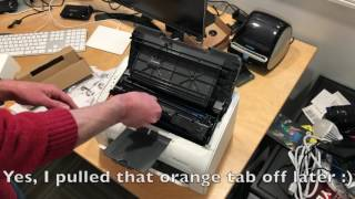 Unboxing Hp Laserjet Pro M12w Wireless Laser Printer T0l46a