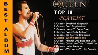 TOP 10 QUEEN SONG  | 10 LAGU TERBAIK QUEEN  SEPANJANG MASA #...