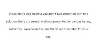Secrets To Dog Training Review | Secrets To Dog Training