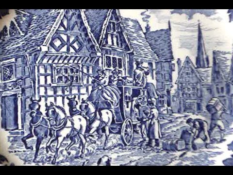 The Dickens Series English Ironstone  | Decorative Blue & White Series #1