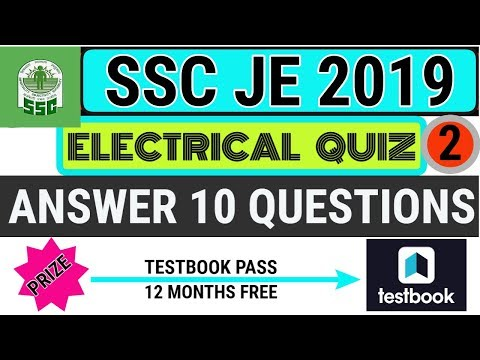 ELECTRICAL ENGINEERING QUIZ 2    WIN TESTBOOK TEST SERIES    SSC JE PREPARATION   