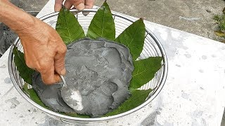 How to make leaf-shaped flower pots | Casting concrete leaves - Cement leaves