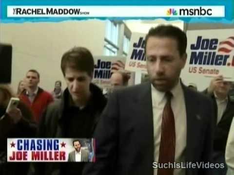 Rachel Maddow Chases Down Rude Joe Miller (R-AK)