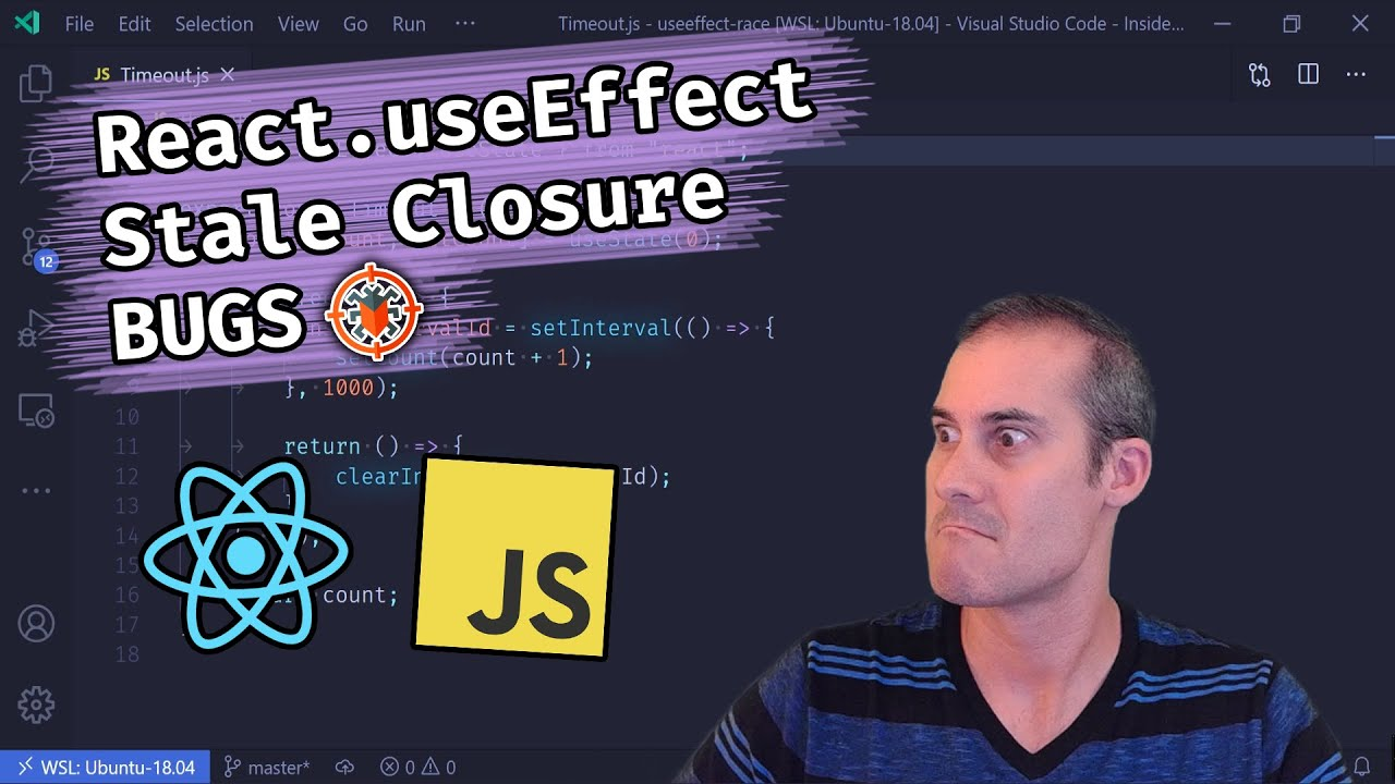 Asynchronous tasks inside React.useEffect can create Stale Closure BUGS!