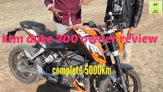 ktm duke 200 owner review ||complete 5000km||