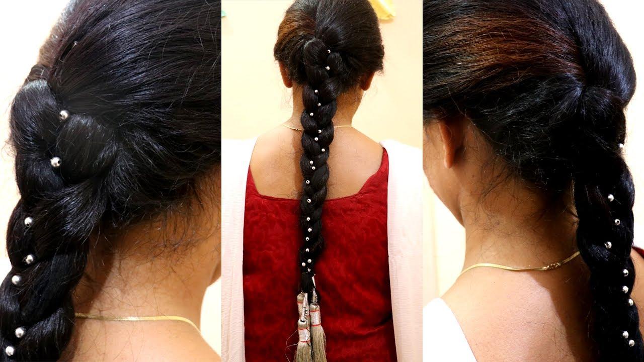 punjabi hairstyle with paranda hair