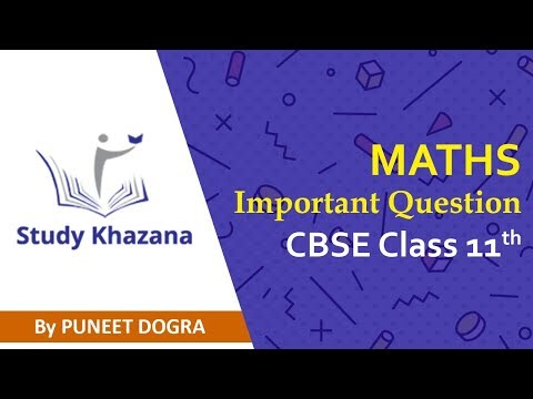 Most Important Question for Math Class XI - Live