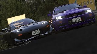 Drivers : R34 - Konstappi RX7 - RecuaZa Car Mods (credits to Touge ...