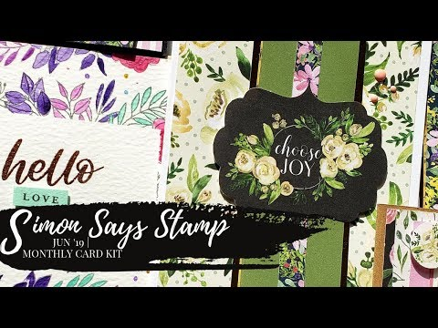 Repeat Simon Says Stamp | Leafy Borders | June 2019 by